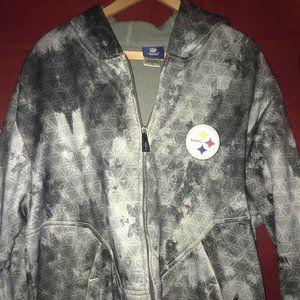 Pittsburgh Steelers Jacket Sz LARGE Reebok Onfield